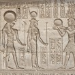 Hieroglypic carvings on an egyptian temple — Stock Photo