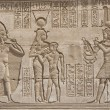 图库照片: Hieroglypic carvings on egyptitemple
