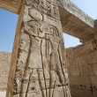 Hieroglypic carvings on an egyptian temple — Stock fotografie