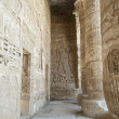 Hieroglypic carvings in an egyptian temple - Photo