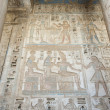 Hieroglypic carvings on an egyptian temple - Photo