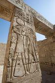 Hieroglypic carvings on an egyptian temple — Foto de Stock