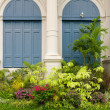 Garden in front of the building - Stockfoto