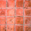 Red tile ceramic floor — Stock Photo #6962443