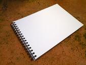 Perspectief witte schetsboek — Stockfoto