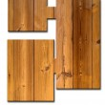 Rectangle Wood decorative Sign — Stock Photo #6986994