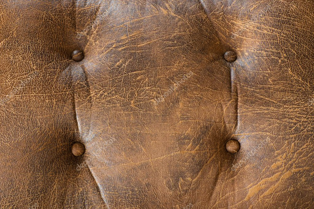 Texture of old brown leather for furniture — Stock Photo #6986959