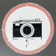 Camera sign — Stock fotografie