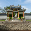 Chinese garden style entrance - Foto Stock