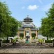 Front Garden of chinese style entrance - Foto Stock