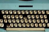 Vieux clavier de machine à écrire blanc style — Photo