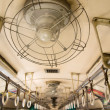 Ceiling fans on the train — Stock Photo