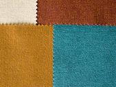 Four Fabrec Earth Tone color Sample — Stock Photo