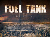 Rust steel fuel tank — Stock Photo