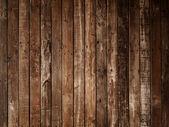 Dark brown plank wood wall — Stock Photo