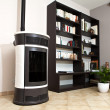 Stock Photo: Pellet stove