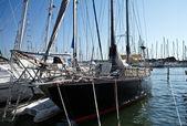 Boats at dock — Stock Photo