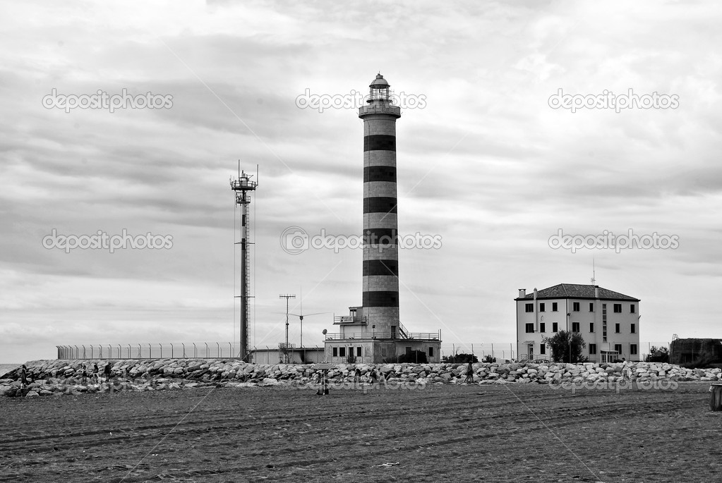 Beautiful lighthouse in Italy — Stock Photo #6818200