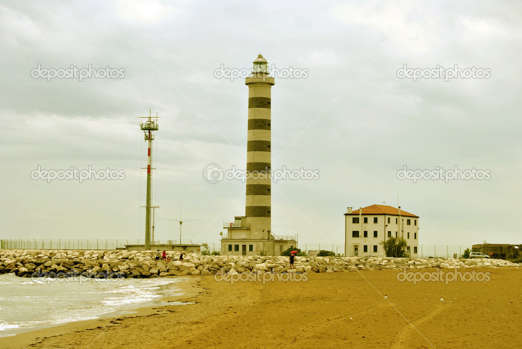 Beautiful lighthouse in Italy — Stock Photo #7027961