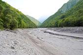Gedroogde rivier — Stockfoto