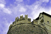 Medieval castle with towers — Foto Stock