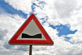 Road sign of danger — Stock Photo