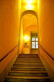 Corridor with artificial lamps — Stock Photo