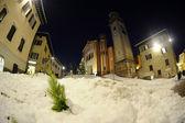 Iglesia y nieve — Foto de Stock