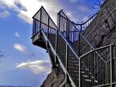 Kroky v železné — Stock fotografie
