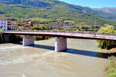 Adige river — Stock Photo