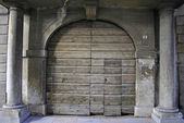 Puerta de madera de cerezo — Foto de Stock