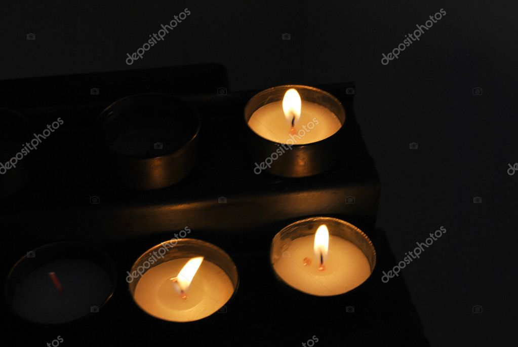 Wax candles for lighting or devotion — Stock Photo #7716748