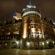 Stock Photo: Chateu Frontenac during night