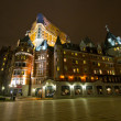 Chateu Frontenac during night — Stock Photo