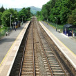 Rural Railway Station. - Stock Photo