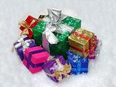 Jul gåva lådor. — Stockfoto