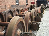 Train Wheels. — Stockfoto