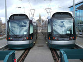 Pair of Trams. — Stock Photo