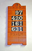 Hymn Board. — Stock Photo