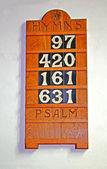 Hymn Board. — Stock Photo