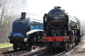Steam Locomotives. — Stock Photo