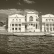 The central sea-front in Sevastopol. Sepia — Stock Photo
