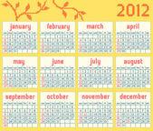 Kalender 2012 — Stockvector