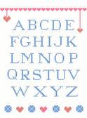çarpı alfabesi — Stok Vektör
