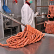 Stock Photo: Sausages factory