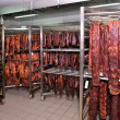 Stock Photo: Meat factory