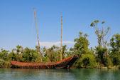 Abandon pirate Ship — Stock Photo
