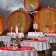 Wine cellar celebration - Stock Photo