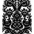 Black decorative floral pattern — Stock Vector