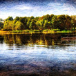 Lake in serock, warsaw, poland — Stock Photo